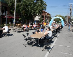 Tables and chairs 2014 Oktoberfest