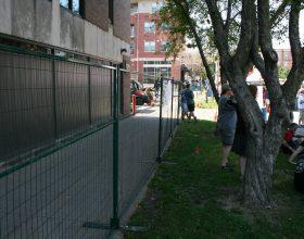 Temporary security fencing barricade 2014 Oktoberfest