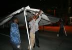 Frame tent assembly at Festival