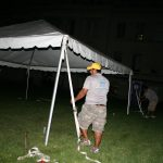 Frame tent assembly in the dark