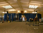 16 feet high Presidential Blue Velour for Michelle Obama 01