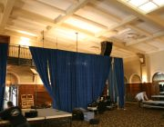 16 feet high Presidential Blue Velour for Michelle Obama 04