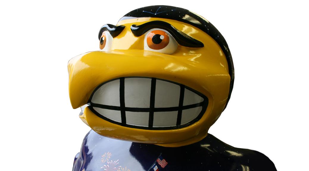 Parade: Herky the Hawk rental: Ultimate University of Iowa fan