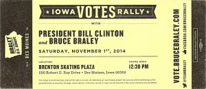 Iowa votes rally in Des Moines, Iowa with President Bill Clinton