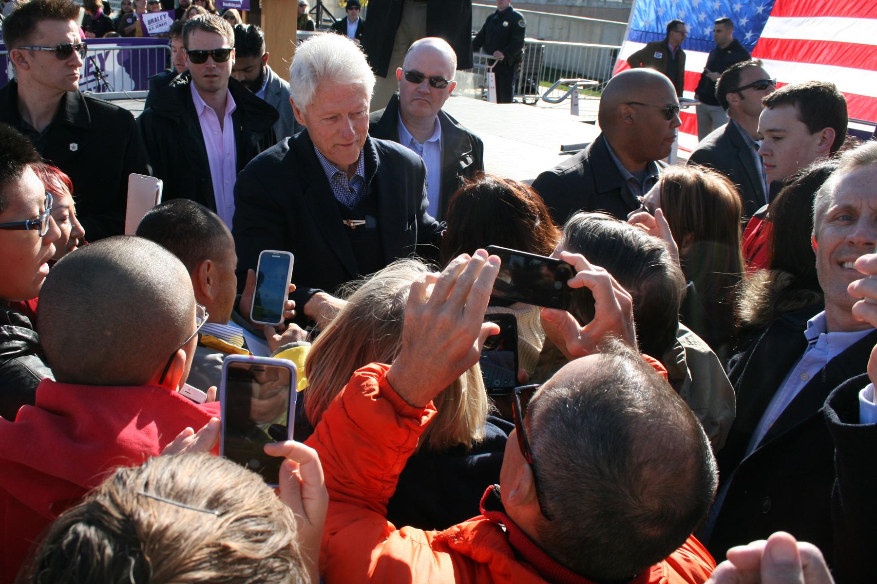 Political Rally Setup President Bill Clinton Amp James