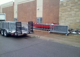 Bike barricade crowd control rental and delivery for Black Friday at Target