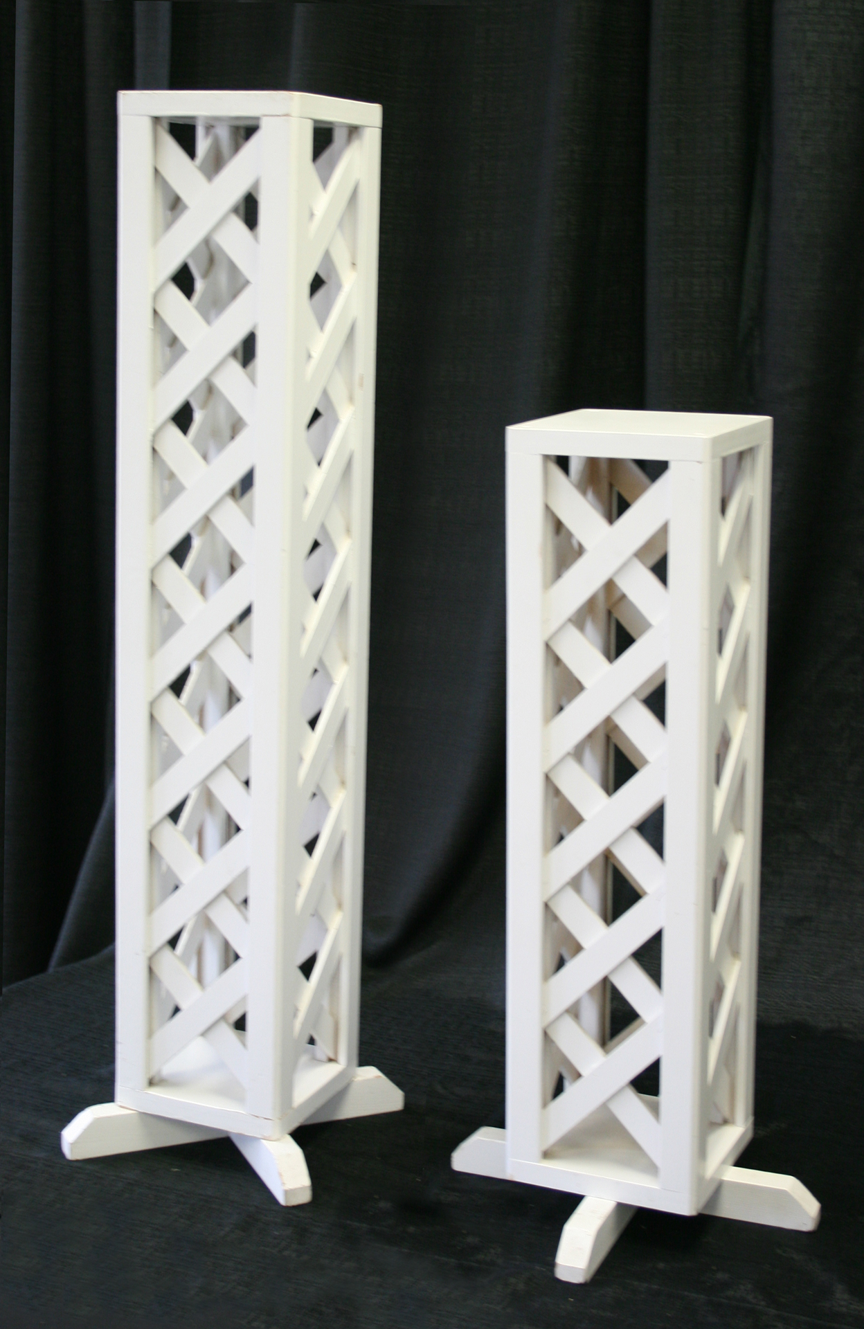 Large Small Wedding Lattice Pillar