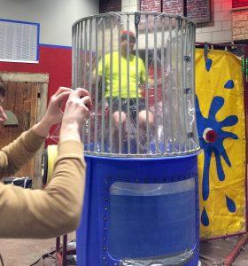 Pastor Mark Eades vs. dunk tank at New Covenant Bible Church