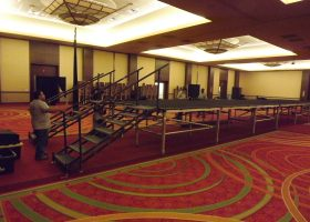 Set up Model Runway for Bridal Show