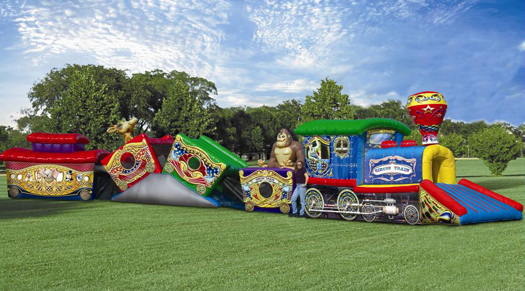 Circus train kiddie (Crawl-Through) obstacle course