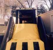 Combo bounce house and slide inflatable mini loader front