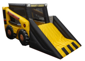 Full Mini loader inflatable combo bounce house and slide
