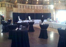 Big Ten Rentals tables at The Celebration Farm