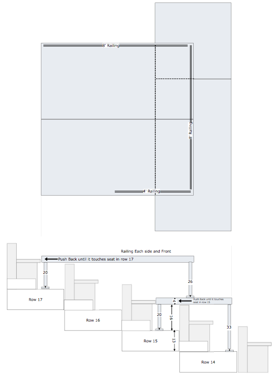 Plan drawing for custom media broadcast structure