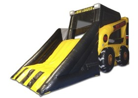 Slide area on Mini loader inflatable combo bounce house and slide
