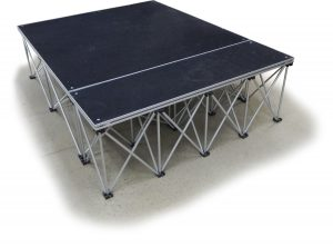 Small portable presentation platform rental
