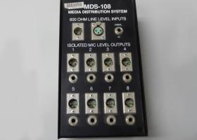 600 OHM line level inputs Rapco MDS-108 Media Distribution system