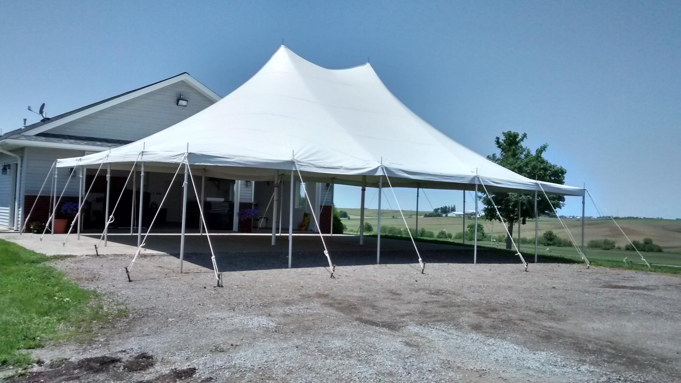 30u2032 x 40u2032 rope and pole tent set-up in Williamsburg Iowa & 30u0027 x 40u0027 Rope and Pole Tent Rental in Iowa City Cedar Rapids