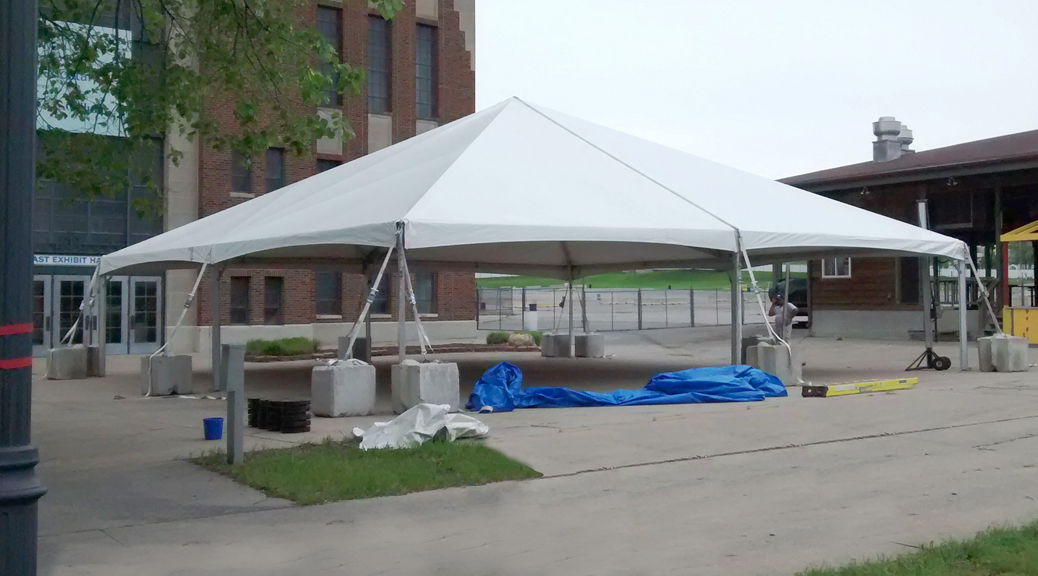 tent parts:linens & draping, lighting, sound systems, generators, heaters & coolers, and portable washrooms.