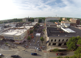 Aerial view of Block Party