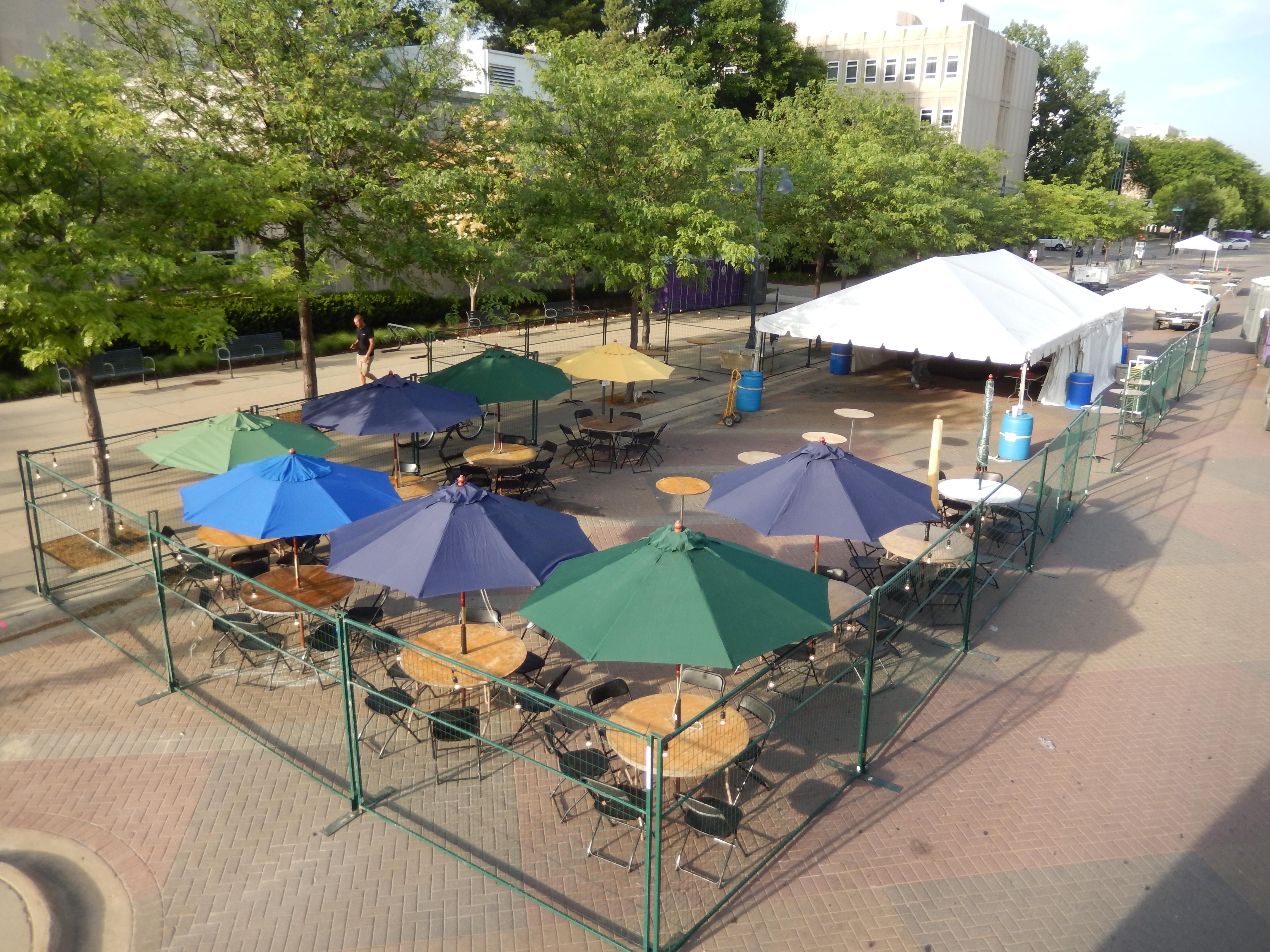 Custom Size Beverage Beer Garden Tent Rental Ia Il Mo Wi