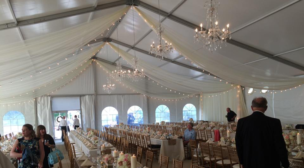 Wedding Tent With Air Conditioning Unit In Iowa