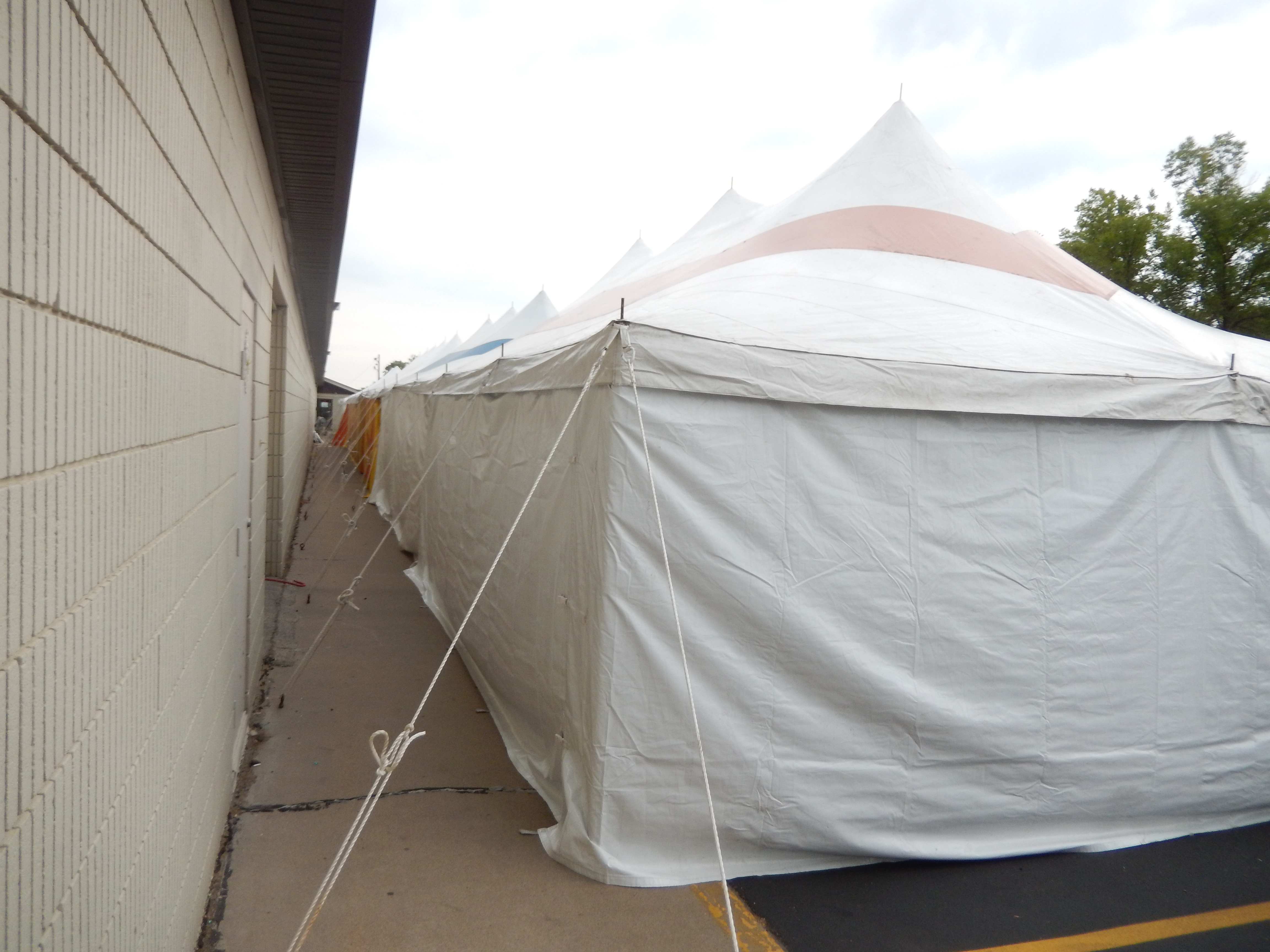 Tent Set Up For Paul S Sidewalk Clearance Sale In Iowa City