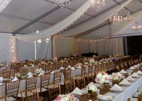 Wedding tent rental in Iowa clearspan