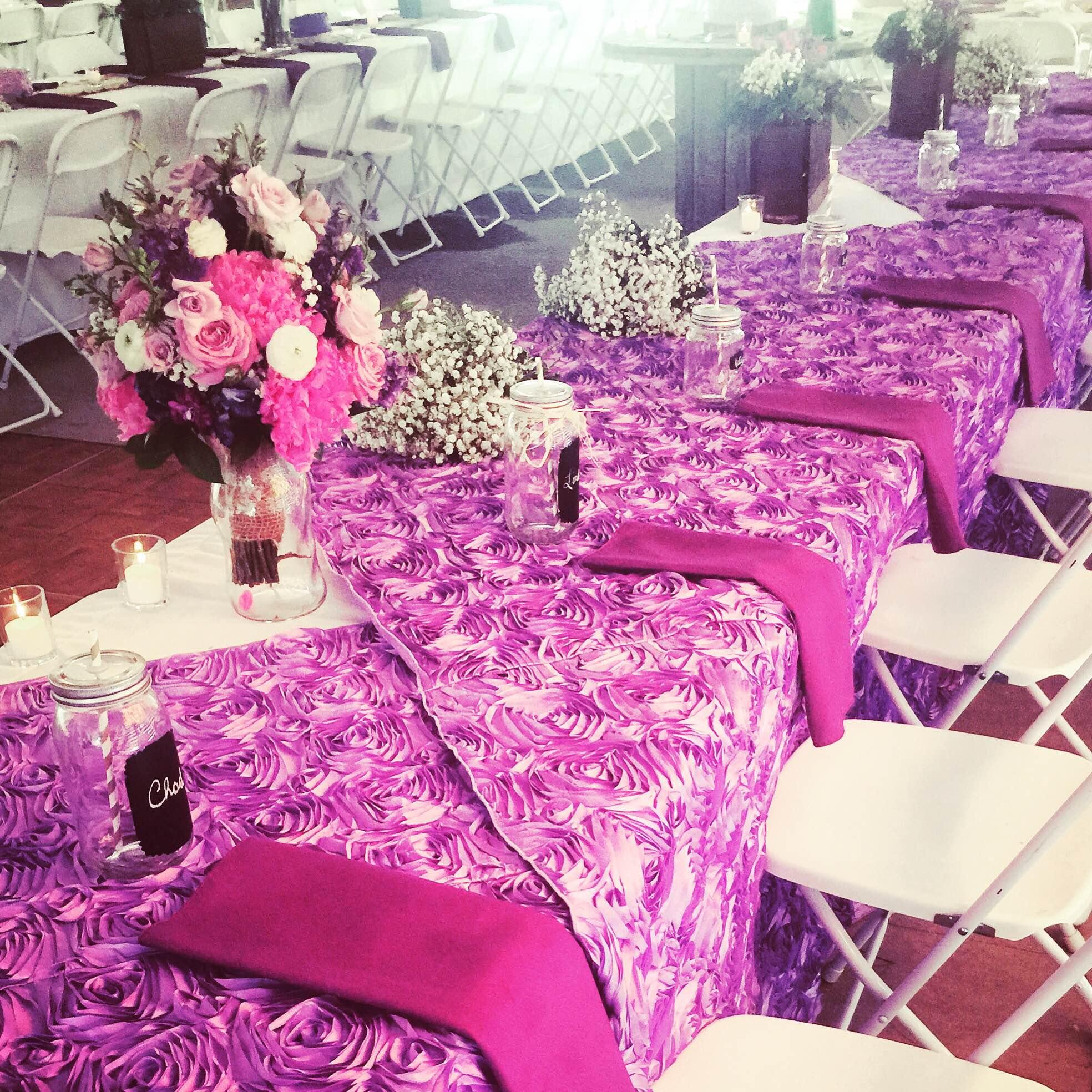 Wedding head table table linens and decor jpg