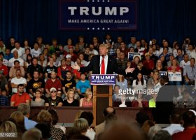 Presidential candidate Donald Trump at Grand River Center in Iowa