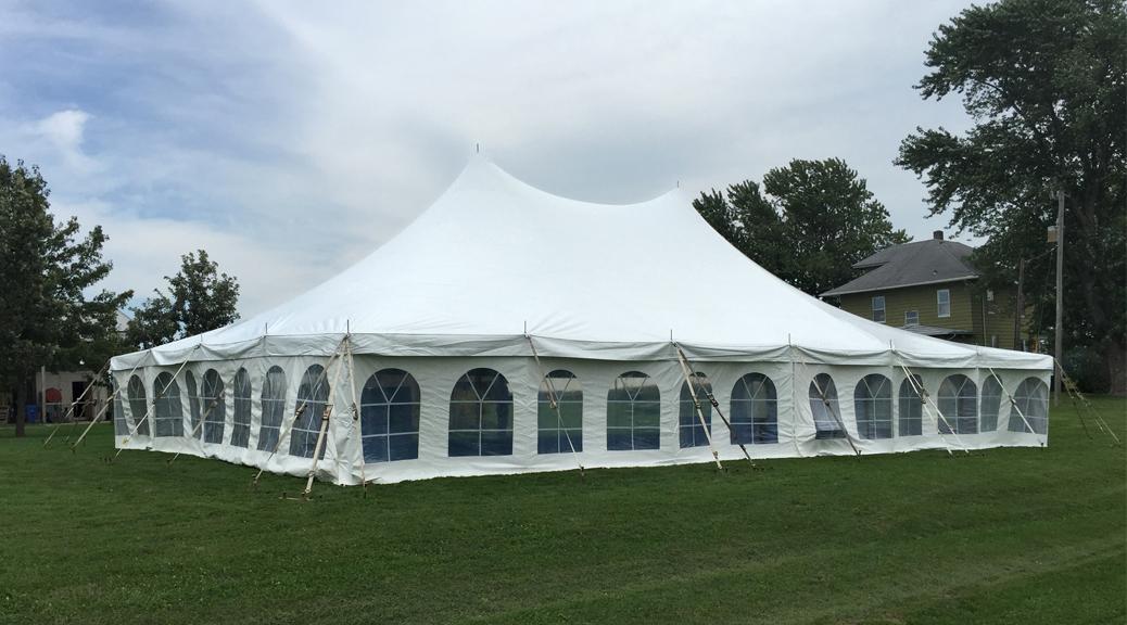 Backyard Rentals For Weddings backyard wedding reception under a tent in kalona, iowa
