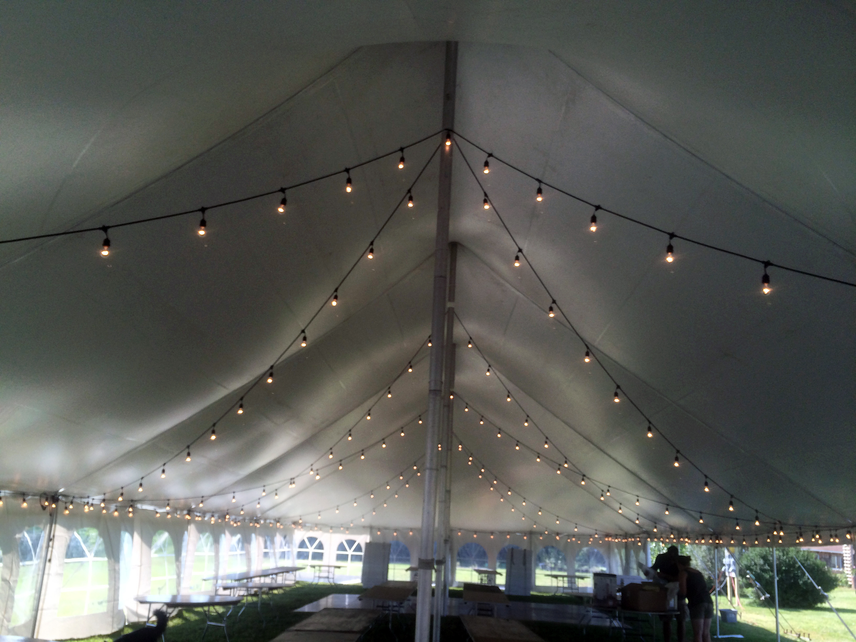 Wedding reception tent for 160 guests Dance flooring & lighting