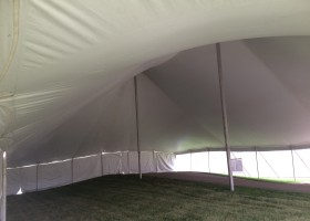 Under the 60′ x 90′ Genesis Rope and Pole at Raymond in Muscatine, Iowa
