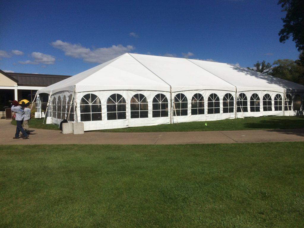 Outside Of 40 X80 Wedding Reception Tent At Oakwood