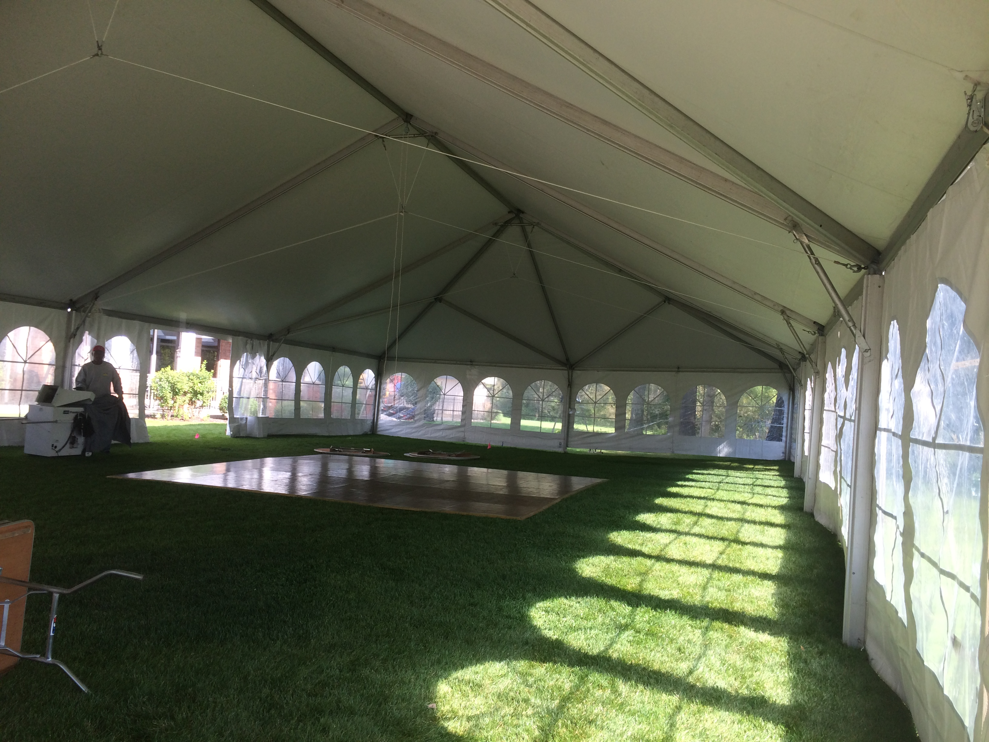 wedding tent at oakwood country club  coal valley  il