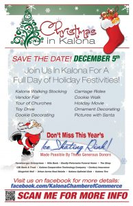 Christmas in Kalona event promotional flyer