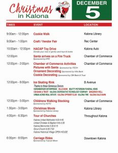 Christmas in Kalona event times and locations
