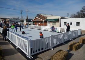 Skating on Synthetic Ice Skating Rink