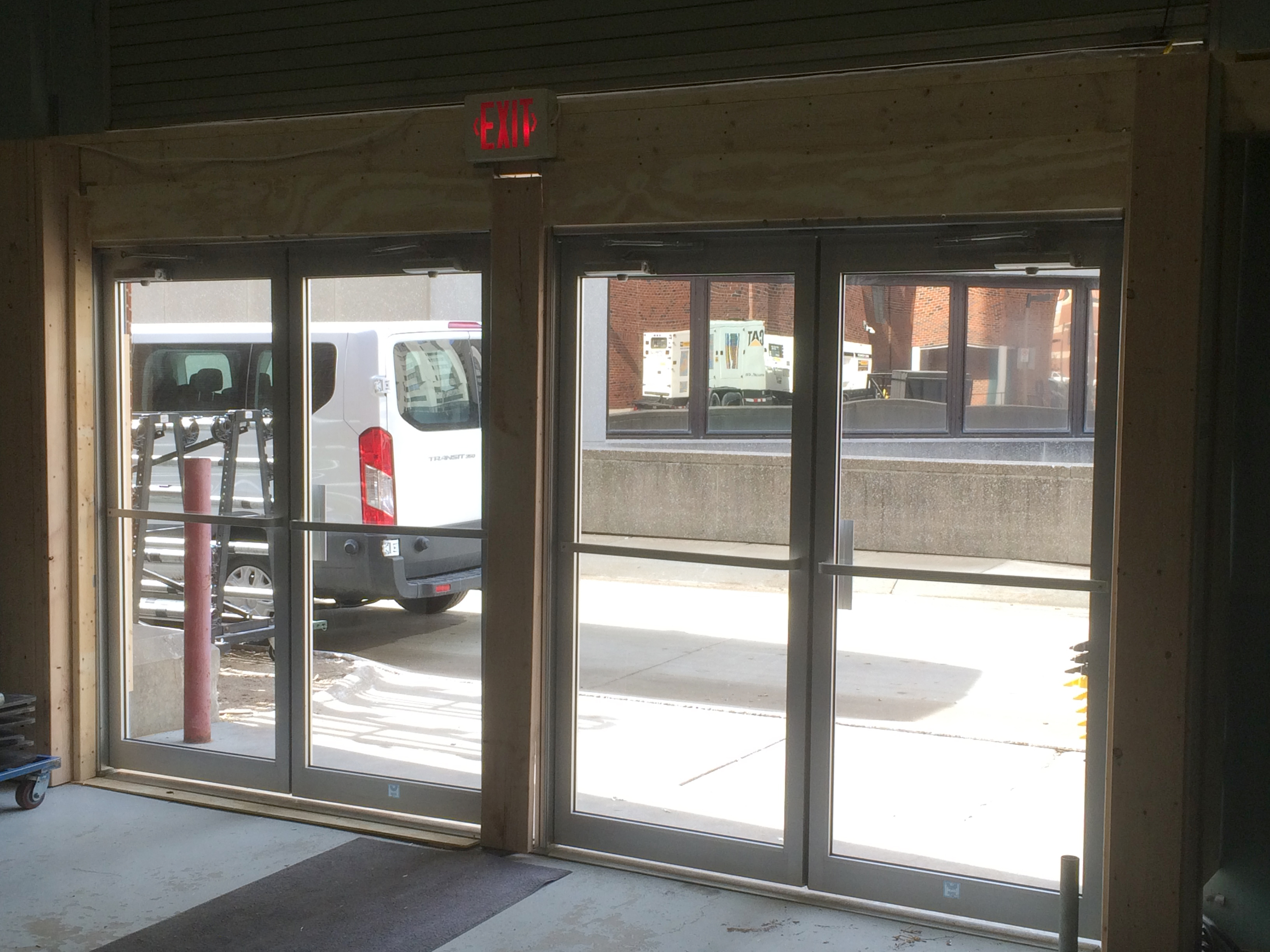 Temporary Double Glass Door Fire Exits To Increase Event Hall