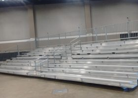 Bleachers at St. Ambrose University for the Competitive Cheer and Dance National Invitational