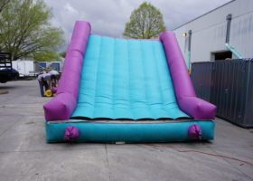 End slide on the original inflatable obstacle course