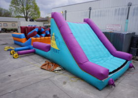 Original inflatable obstacle course slide area