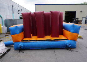 Push through the start – original inflatable obstacle course