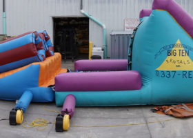 Side of original inflatable obstacle course