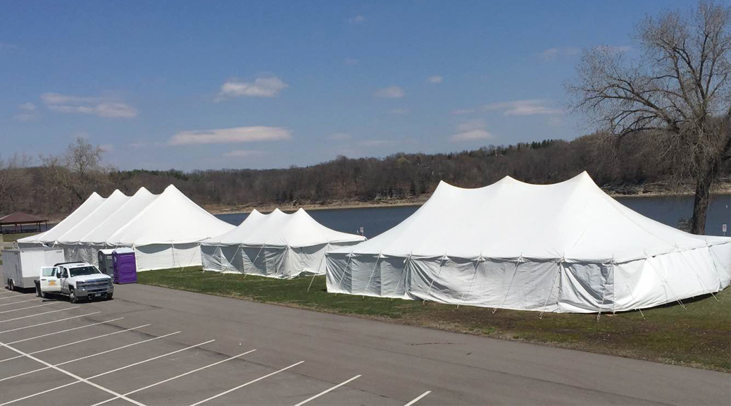 Special Olympics tents at Coralville Lake
