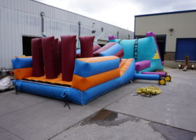 Start of original inflatable obstacle course