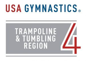 USA GYMNASTICS Trampoline and Tumbling Region 4 logo
