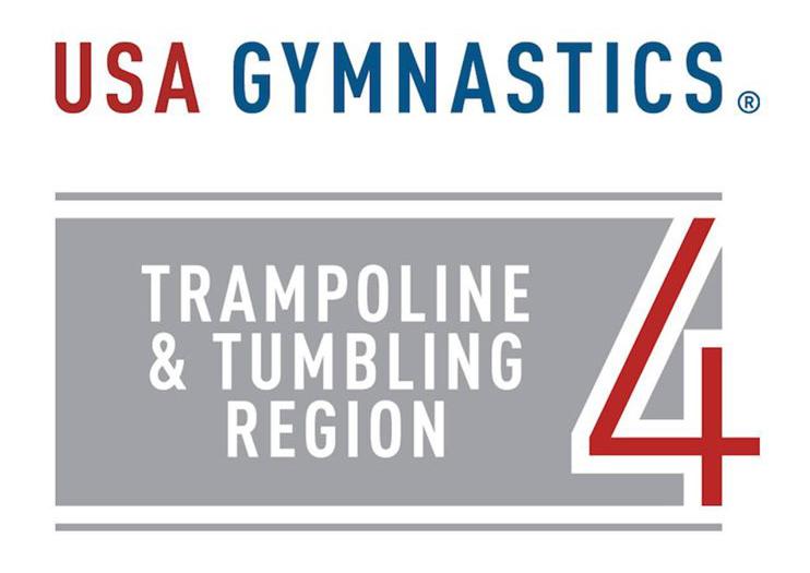 Usa Gymnastics Trampoline And Tumbling Region 4 Logo