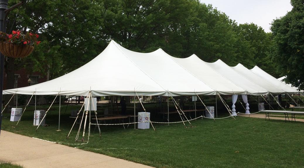 40u0027 x 140u0027 Rope and Pole tent for a Wine Festival/Wine Tasting & Tents for Wine Festival/Wine Tasting event in Davenport IA