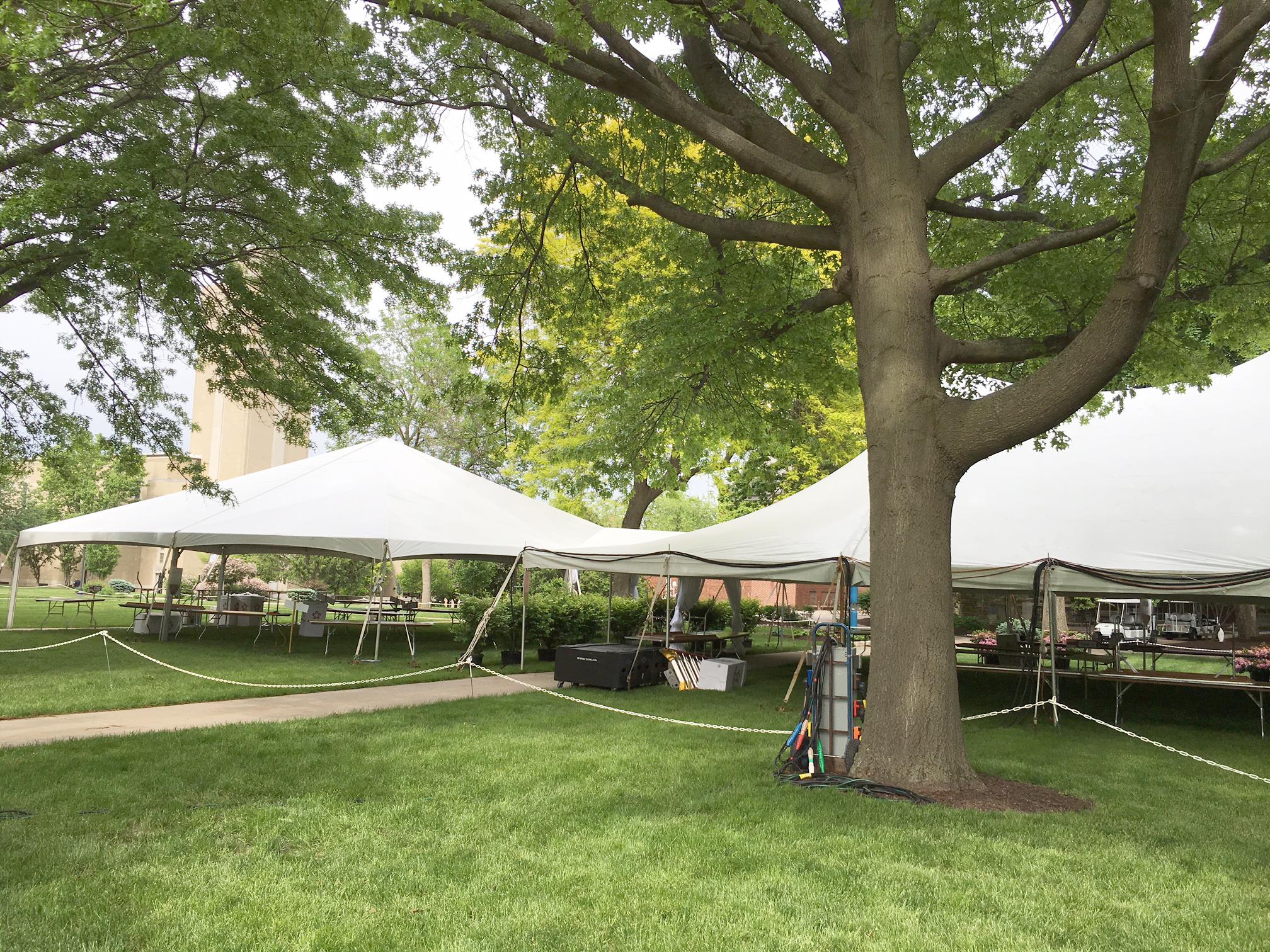 40u0027 x 40u0027 Hybrid tent and 40u0027 x 140u0027 Rope and Pole & Tents for Wine Festival/Wine Tasting event in Davenport IA